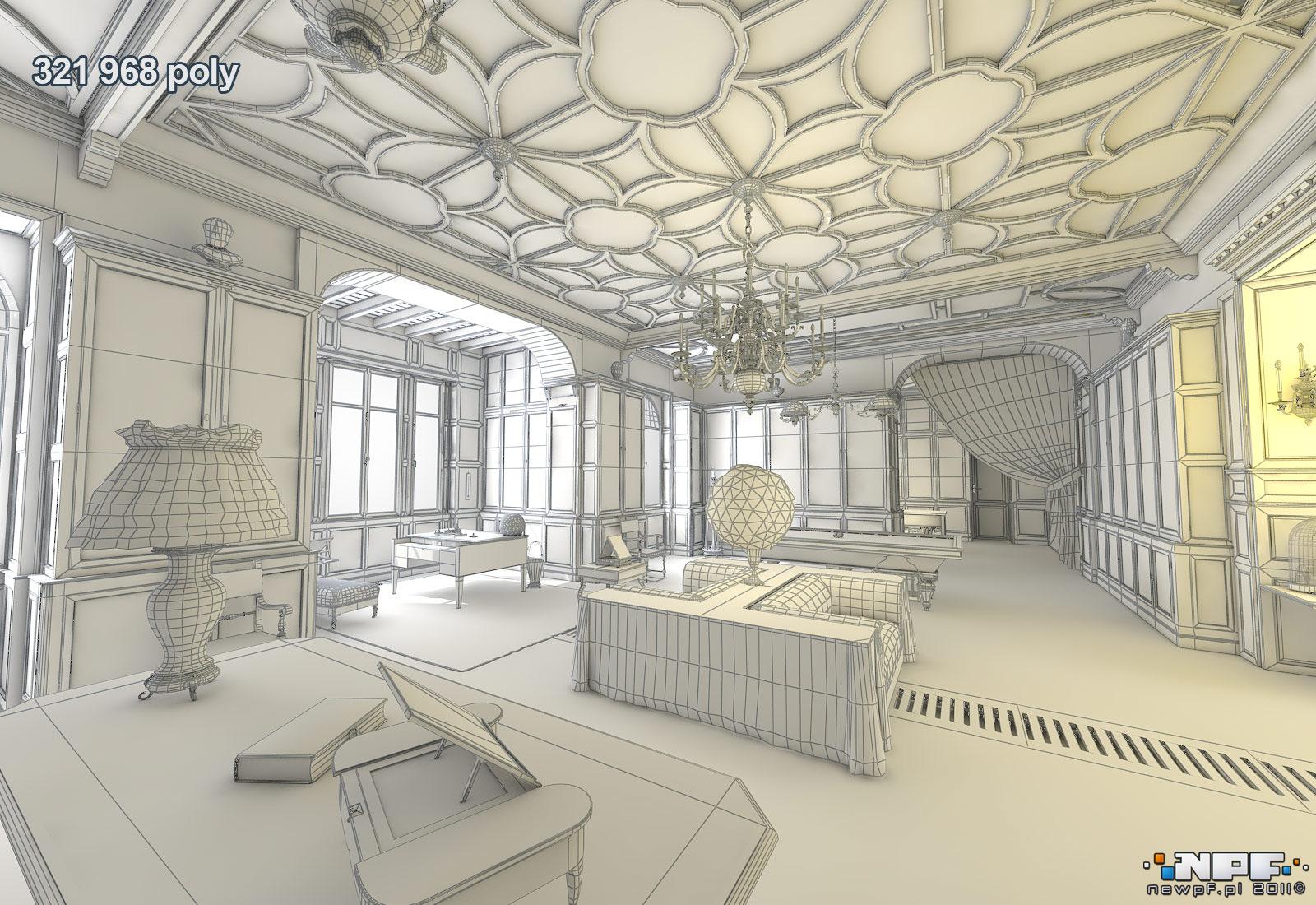 Biblioteka w Łańcucie 1 - model