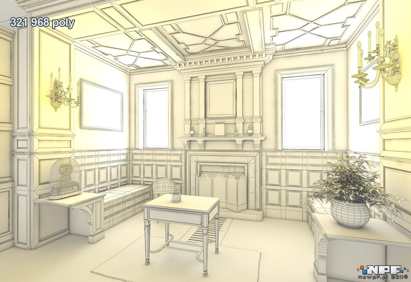 Biblioteka w Łańcucie 3 - model