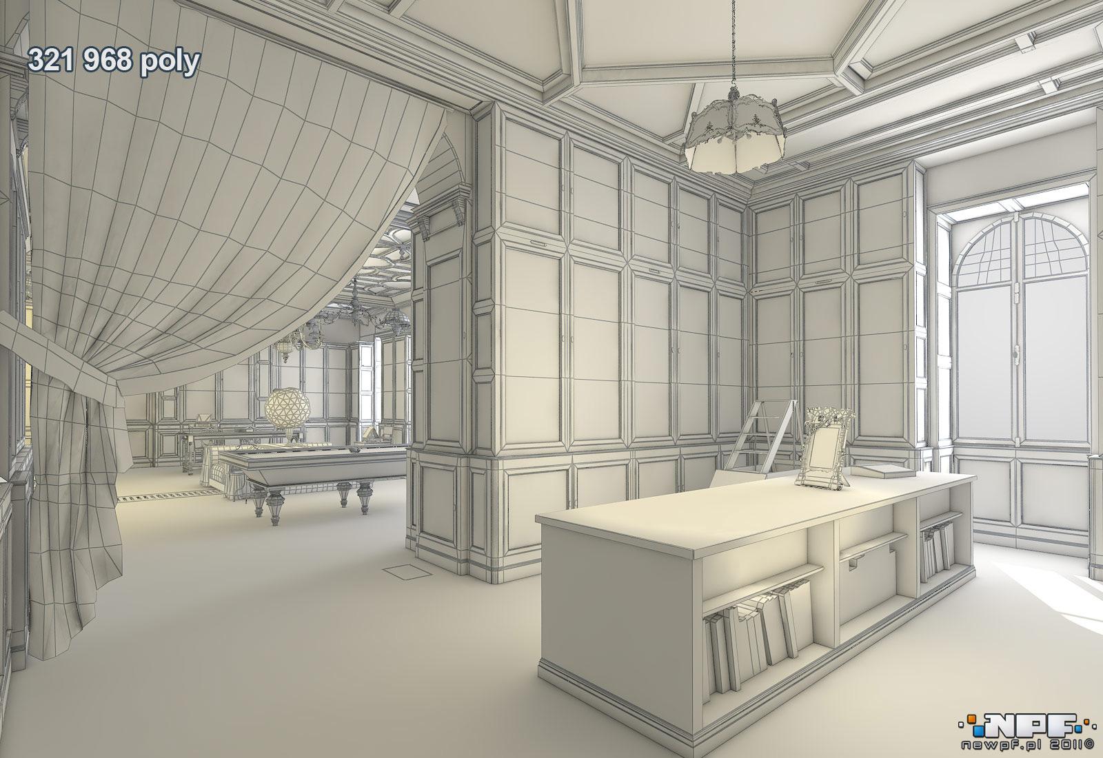 Biblioteka w Łańcucie 7 - model